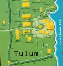 tulum map tulum in quintana roo mexico