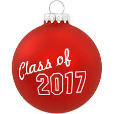 class of 2017 glass ornament class of bronner s exclusive