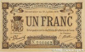 chambre de commerce granville 1 franc regionalism and miscellaneous granville 1915 jp