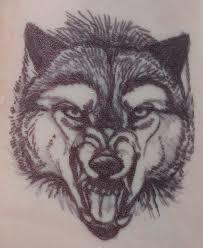 sharpie tattoo wolf design by wolfgirl885 on deviantart