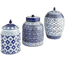blue kitchen canisters blue kitchen canisters and white jars canister set