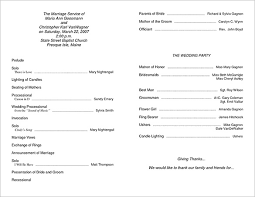 sle of wedding programs wedding reception itinerary template