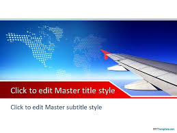 office powerpoint template free plane ppt template free travel