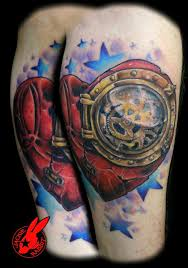 open wings owl clock and rose tattoos on chest photos pictures