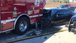 tesla and gm self drive cars involved in road collisions bbc news