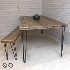 vintage hairpin table legs hairpin legs vintage industrial reclaimed timber by woodengroove