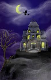 landscape horror house mist haunted halloween dark wallpaper top