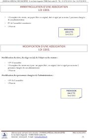 changement de bureau association loi 1901 guide des formalités légales pdf