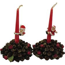 vintage table decorative christmas candle holders center pieces
