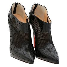 inseller women boots christian louboutin black laser cut