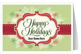 Holiday Business Cards Custom Retro Modern Holiday Card 36072 Harrison Greetings