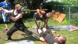 10 man rumble match 1 contender chw backyard wrestling