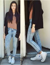 Skinny Jeans And Converse Monica S Forever 21 Oversize Cardigan Acid Reign Washed Jeans