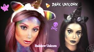 rainbow dark unicorn halloween makeup tutorial nicol concilio