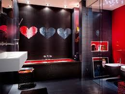 red and black bathroom sets two support pale white curtain table
