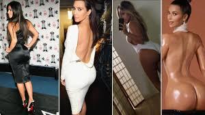 kim kardashian strips down incredibly tiny thong show