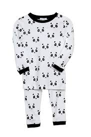 panda 2 pajama baby noomie pima cotton clothing for