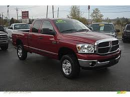 2007 dodge ram 2500 big horn edition quad cab 4x4 in inferno red