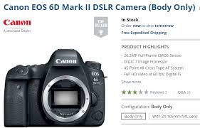 canon 6d black friday 2017 canon eos 6d mark ii body in stock at b u0026h camera rumors