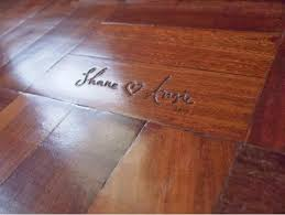 when installing wood floors carve your names or date in your
