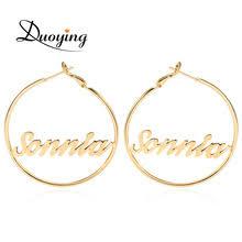 Personalized Name Earrings Online Get Cheap Custom Name Hoop Earrings Aliexpress Com