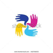 painted child handprint vectors download free vector art stock
