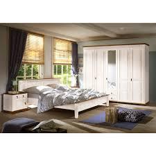 Schlafzimmer Bett Mit Matratze Sevilla Schlafzimmer Set 4 Tlg Kiefer Massiv Weiß Lackiert Schrank