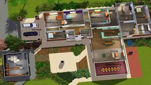 sims 3 modern house plans blueprint homepeek