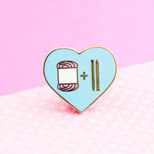 knitting pin cute enamel pin knit yarn patches and brooches