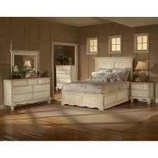 hillsdale furniture wilshire antique white king 4 piece bed set