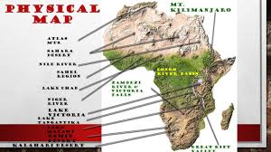 Sub Saharan Africa Physical Map by Unit 7 Introduction To Africa Africa Is The Second Largest