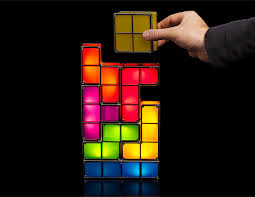 tetris stackable led desk lamp the green head