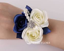 navy blue corsage navy blue corsage etsy