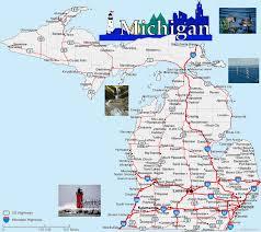 peninsula michigan map map of michigan lower peninsula michigan map