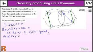 geometry proof circle theorems gcse maths revision exam paper