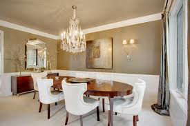 Glass Chandeliers For Dining Room Dining Room Inspiring Dining Room Design With Oval Brown Wooden