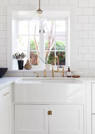 Kitchen With Farm Sink - farmhouse sinks kitchen inspiration the inspired room