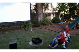 Backyard Projector Backyard Theater System Packages Visualapex Com