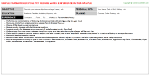 Data Architect Sample Resume by Poultry Farmworker Resumes Samples