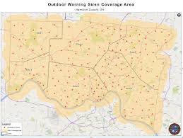 Map Of Cincinnati Ohio by Outdoor Warning Siren System Hamilton County Emhsa