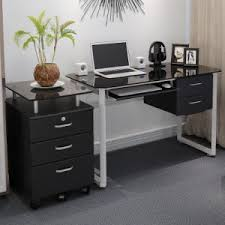 Glass Computer Desk With Drawers China Home Office Furniture Glass Computer Desk For Office Study