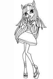 monster rochelle coloring free printable coloring pages