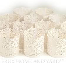 Home And Yard Design Software Amazon Com Flameless Tea Light Votive Wraps 48 White Laser Cut