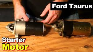 2003 ford taurus starter motor youtube