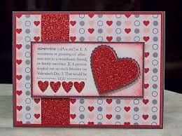 Homemade Valentines Day Ideas For Him by Handmade Valentine U0027s Day Card Using Stampin U0027 Up Scallop Heart