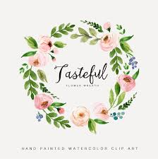 wedding design watercolor flower wreath clipart painted wedding