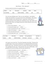 51 free esl wh questions worksheets