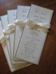 sided wedding programs 25 best wedding programs simple ideas on wedding