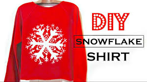 christmas shirts diy snowflake shirt how to make easy christmas gifts