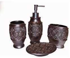 bronze bath accessory 4 piece set contemporary bathroom